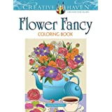 Creative Haven Flower Fancy Coloring Book