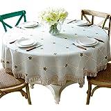 American round tablecloths plaid fabric, home dining table cloth tablecloths large round table (Size : Diameter: 160cm)