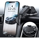 DesertWest Car Phone Holder Mount, Heavy Suction Cell Phone Holder Car Dashboard Windshield Air Vent Fit with iPhone 12 SE 11