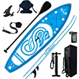 FunWater Stand Up Paddle Board 10'x31''x6'' Ultra-Light (17lbs) Inflatable Paddleboard with ISUP Accessories,Fins,Adjustable