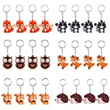 iMagitek 24 Pack Woodland Animal Keychains for Woodland Party Supplies Favors, Kids Party Bag Fillers, School Carnival Reward