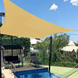 8X10' Rectangle Sun Shade Sails UV Block for Shelter Canopy Patio Garden Outdoor Facility Sand and Activities