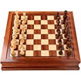 Chess Board, Luxury Chess and Board Game Set Table Chess Board Game Set, Including 3 Inch Chess Pieces, Walnut Board and Stor