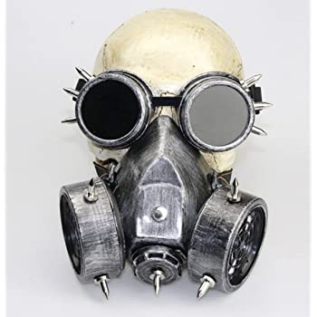 CTVshopオリジナル袋付き ペスト マスク コスチューム 最新色 ガスマスク (ゴーグルシルバー)