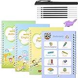 Magic Copy Practice Book Copybook Letters Set 4 Pack with Pens Refills English Cursive Calligraphy Reusable for Kids Kinderga