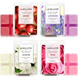 LA BELLEFÉE 4 x Packs Perfume Box Wax Melts Set of 4 Fragranced Wax, Organic, Vegan, Soy Wax melt, Natural Wax