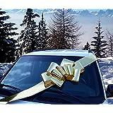 "Big Metallic Gold Car Bow - Large Ribbon Gift Decoration, Fully Assembled, 25"" Wide, Christmas, Birthday, Graduation"