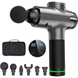 Massage Gun for Athletes, Portable Body Muscle Massager Professional Deep Tissue Massage Gun for Pain Relief with 6 Massage H
