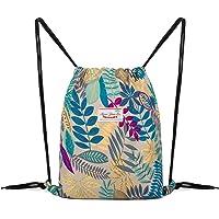 WANDF ジムサック ナップサック 巾着 シューズ収納 防水 軽量 水泳 部活 運動 旅行