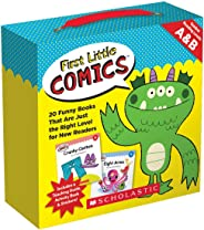 First Little Comics Guided Reading Levels A & B: 20 Funny Books That Are Just the Right Level for New Readers