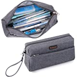 Homecube Pencil Case Big Capacity Pen Bag Makeup Pouch Holder with Double Zippers for Middle High Office College Portable Sto