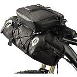 ROCK BROS Waterproof Bike Packing Front Handlebar Bags 2 Dry Packs for MTB Road Bicycles Bikepacking Tools Gear Accessories 1