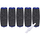 5 Pack Extra Coarse Rollers For Amope Pedi Refills Electronic Perfect Foot File Pedi Hard Skin Remover Refills Include a clea