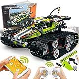 POKONBOY Building Blocks RC Car for Boys STEM Toys, RC Tracked Racer Building Kit Educational STEM Learning Toys Science Kits