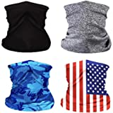 4Pcs Kids Face Bandana Mask with Filters,Neck Gaiter Balaclava,Function UV Protection Face Mouth Cover Scarf