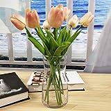 ガラス花瓶 ガラスフラワーベース 高さ17CM シンプル花器 Fukuka北欧風花瓶 ガラスボトル 水耕栽培 インテリア…