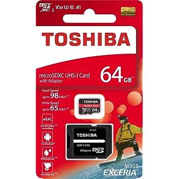 東芝 ( TOSHIBA ) 64GB microSDXC メモリー ( R 98MB/s / W 65MB/s ) アダプター付き [ 海外パッケージ ]