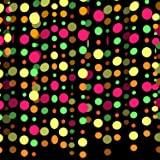 30ft Strip Glow Streamers Neon Paper Garland UV Black Light Reactive Party Streamer Fluorescent Hanging Ornaments Glow in the