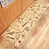 ESUPPORT Extra Long Kitchen Rug Non Slip & Oilproof Household Floor Mat 18 x 27inch, Bread