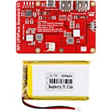 Raspberry Piリチウム電池の拡張ボード ラズベリーパイ 拡張ボード Raspberry Pi4バッテリーパックUPS 最新バージョンV3 Raspberry Pi 4B 3B+ Pi 3B 2B+ (3.7V 4000mAhバッテリ)