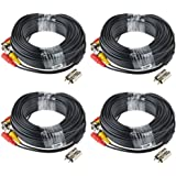 ABLEGRID 4 Pack 100ft bnc Video Power Cable Security Camera Cable Wire Cord for CCTV dvr Surveillance System (Included 2X BNC