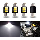 """iBrightstar Newest 9-30V Extremely Bright DE3175 DE3021 Festoon Error Free 1.25"""" 31mm LED for Interior Map Dome Lights and Li"""