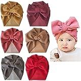 Asufegucd Baby Nylon Big Bow Turban Hats India Beanie Bohemia Donuts Cap Girls Headwear Bun Knot