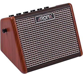 Muslady AROMA 15Wアコースティックギターアンプ BTスピーカー 内蔵充電式電池 マイクインターフェイス付き AG-15A