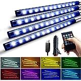 Nanpoku 車 LEDテープライト USB&シガーソケット 2種給電 車内装飾用 防水 高輝度 音に反応 RGB 8色切替 多種フラッシモード 4パターン点灯 フットライト 足下照明 リモコン付き