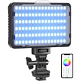 Neewer RGB Video Light with APP Control, 360° Full Color Led Camera Light CRI95+ Dimmable 3200K-5600K, 9 Light Scenes for You