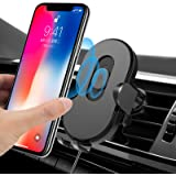 Wireless Car Charger Mount with Sensor Auto-Clamping,Jornarshar 15w Qi Fast Charging Car Phone Holder Charger,Air vent Wirele
