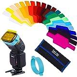 Selens Universal Flash Gels Lighting Filter SE-CG20-20 pcs Combination Kits for Canon Nikon Sony Godox Yongnuo Camera Flash L