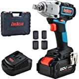 ENEACRO 20V Cordless Impact Wrench Brushless Motor 300 Ft-lb Max Torque,4.0 AH Battery with Fast Charger,3 Speed Switch,1/2 I