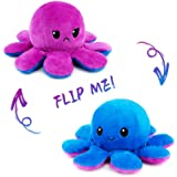 Octopus Plush Reversible Genuine Double-Sided Flip Octopus Pillow Plushie Soft Cute Stuffed Animals Doll with Rich Expression