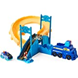 PAW Patrol, True Metal Chase Rescue Track Set with Exclusive Chase Die-Cast Vehicle, 1:55 Scale