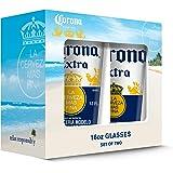 Corona Extra Caps Pub Glass (Set of 2), Clear