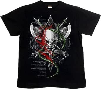 [GENJU] Tシャツ スカル ドクロ 十字架 裏もデザイン有 メンズ キッズ