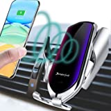 Lukkahh R2 Wireless Car Charger Mount,Auto-Clamping Air Vent Phone Holder,10W Qi Fast Car Charging,Compatible iPhone 11/11 Pr