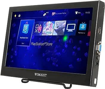 WIMAXIT 11.6インチIPS モニター 1920x1080 HDMI VGA モニタースクリーン ゲームモニタ 携帯型ディスプレイ Raspberry Pi B+/2B/3B WiiU Xbox 360/PS4/mac os/Win 7/8/10用対応 スピーカ内蔵 PCモニター