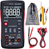 Bside EBTN Digital Multimeter 3-Line Display 9999 Counts Button Design True RMS Auto-Ranging DMM AC/DC Amp Volt Ohm Hz Diode