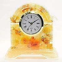 Lulu's ルルズ ハーバリウム 花時計 Flower clock イエロー プリザーブドフラワー ドライフラワー サ…