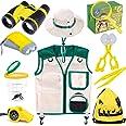 INNOCHEER Explorer Kit & Bug Catcher Kit for Kids Outdoor Exploration with Vest, Binocular, Magnifying Glass, Hand-Crank Flas