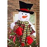 Christmas Tree Topper Snowman Hugger - Xmas/Holiday/Winter Wonderland Party Decoration Ornament Supplies