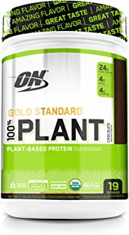 OPTIMUM NUTRITION GOLD STANDARD 100% Organic Plant Based Vegan Protein Powder, Chocolate, 1.59 Pound