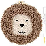 Wool Queen Rug Punch Needle Kit Lion-W