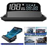 "5"" 4K FHD HUD Display Car GPS Gauge Head up Display Speedometer 3D Reflection Display GPS+BDS Chip 5-24V Satellite Single Dri"