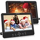 "WONNIE 10.5"" Dual Screen DVD Player Portable CD Players for Car with Two Mounting Bracket, 5-Hour Rechargeable Battery, Play"