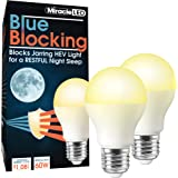 MiracleLED 604592 Miracle LED Blue Blocking Night Time Sleep Bulb Replacing Up to 60W to Replicate Setting Sun and Produce Me