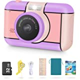 Magicfun Kids Camera for Girls Age 3-10Years Old - 24MP Dual Lens Kid Digital Camera, 1080P 2.4'' LCD Blue Screen Video Camco