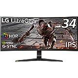【Amazon.co.jp限定】LG ゲーミング モニター UltraGear 34GN73A-B 34インチ/21:9 曲面 ウルトラワイド(2560×1080)/IPS/144Hz/G-SYNC Compatible/HDR/HDMI×2,Dis